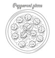 pepperoni pizza with sausages object vector image vector image