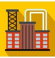 Plant industrial building flat icon vector image vector image