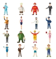Professions icons set cartoon style vector image vector image