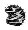 racer helmet on white background vector image