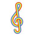 Rainbow treble clef vector image vector image