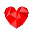 Red mosaic heart isolated on white background vector image vector image