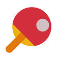 red racket for playing table tennis or ping pong vector image
