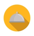 Restaurant cloche flat icon vector image vector image