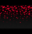 seamless hearts border on dark background vector image