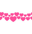 seamless line hearts valentine s day design vector image vector image
