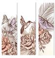 set floral hand drawn brochures vector image vector image