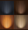 set spotlight wood texture backgrounds vector image