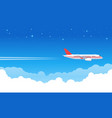 sky aircraft airplane flying in blue flight vector image vector image