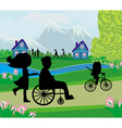 spring day in the park vector image vector image