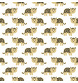 stylized leopard cartoon style background vector image