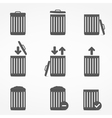 Trash Can Icons vector image
