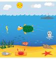under sea vector image vector image