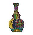vaze zen tangle and doodle vase tattoo zentangle vector image