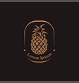 vintage label pineapple logo icon template vector image