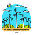 wind power plant powerhouse or electric vector image vector image