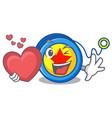 with heart yoyo mascot cartoon style vector image