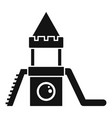 wood kid castle icon simple style vector image vector image