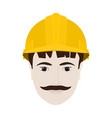 working man in yellow hard hat vector image