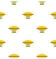 yellow retro hot air balloon pattern seamless vector image