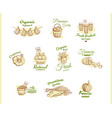 farmers market badges collection vector image
