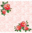 Vintage Greeting Card with Roses vector image