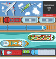 Transportation Colorful Icons Set vector image
