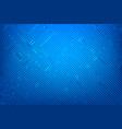 abstract dark blue background with print circuit vector image vector image