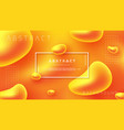 abstract fluid liquid orange background design vector image vector image