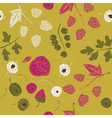 abstract fruit wallpaper vector image vector image