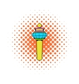 Airport control tower icon comics style vector image vector image