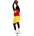 al 0639 basketball player 01 vector image vector image