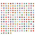 all national flags with names rounded flags vector image vector image