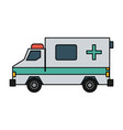 ambulance healthcare icon image vector image vector image