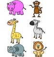 Animal doodle collection vector image vector image