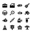 auto repair filled icons vector image vector image