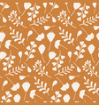 autumn seamless pattern with hand drawn branches vector image vector image