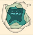 background with beige and green colors paper cut vector image vector image