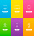 Banners with Devices Icons vector image vector image