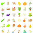 big farm icons set cartoon style vector image vector image