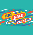 big sale - horizontal banner vector image