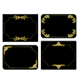 black and gold frames - set vector image vector image