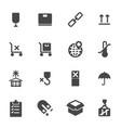 black marking cargo icons set vector image vector image
