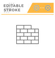 brick wall line icon vector image