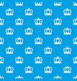 britain crown pattern seamless blue vector image vector image