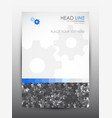 brochure design template cover presentation vector image vector image