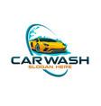 car wash logo template vector image