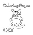 cartoon fat cat coloring book vector image vector image