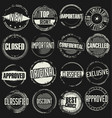 collection grunge rubber stamps 2 vector image vector image