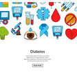 colored diabetes icons background banner vector image